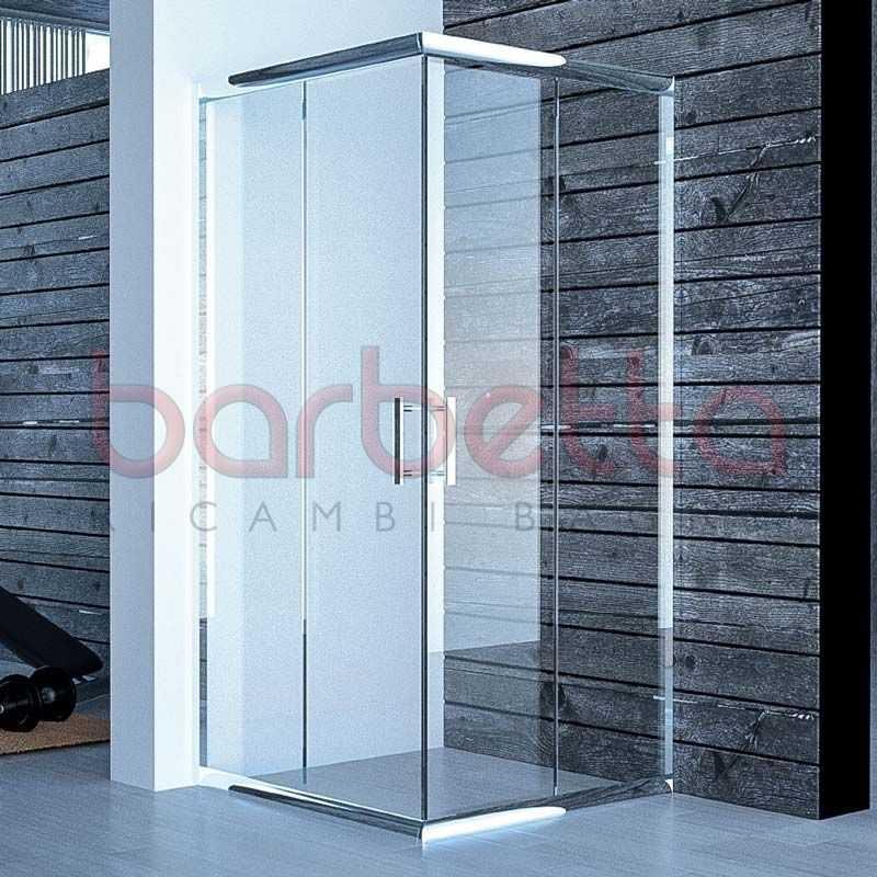 Box Doccia In Cristallo.Box Doccia Cristallo Satinato Opaco 70x70 Profilo Cromo Mathos Bres