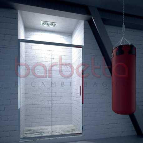 Box Doccia Cristallo Satinato.Porta Box Doccia Cristallo Satinato Opaco Profilo Cromo Naxos Bressani