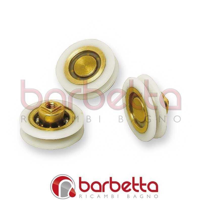 Box Doccia Tab Ricambi.Carrucole Cuscinetti In Ottone Ricoperto 18x6 9 5 H Foro M4