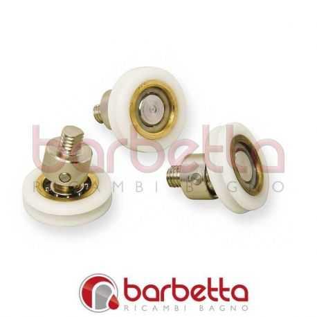 Carrucole cuscinetti in ottone snodato 21x6 21 5 h filetto m6 for Ricambi box doccia cuscinetti