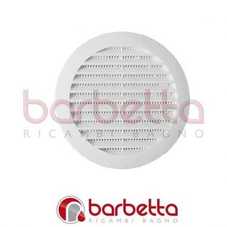 GRIGLIA DI AERAZIONE in plastica 60 mm bianca