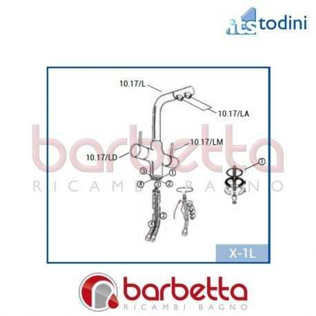 RUBINETTO DELUXE 3 VIE RICAMBIO ITS TODINI 10.17/L