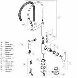 RICAMBIO FLEX MOK M10x1 - M10x1 DN6 NEUTRO COMPLETO NOBILI RFX135/66