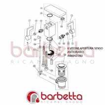 VITONE APERTURA SENSO ANTIORARIO CUBIC IDEAL STANDARD A860421NU