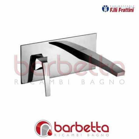 """BATTERIA LAVABO A PARETE SENZA SCARICO """"LUCE""""F.LLI FRATTINI 84034"""