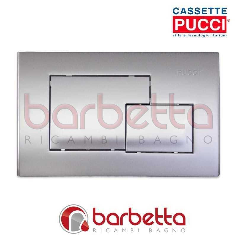 Pucci Bagno.Placca Pucci Eco A Parete Cromo Satinata Due Pulsanti 80000519
