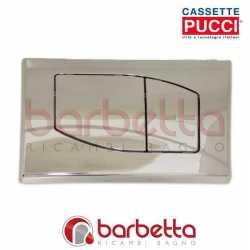 PLACCA PUCCI ECO ROMBO PARETE CROMO LUCIDO DUE PULSANTI 80000532