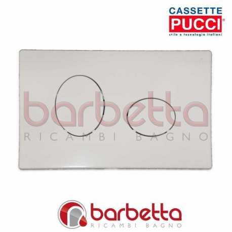 PLACCA PUCCI ECO ELLISSE PARETE BIANCO DUE PULSANTI 80130550