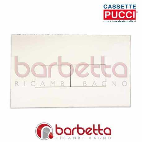 PLACCA PUCCI ECO LINEA PARETE BIANCO DUE PULSANTI 80130560
