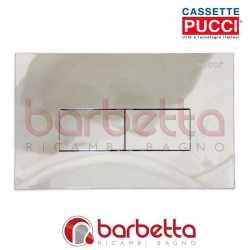 PLACCA PUCCI ECO LINEA PARETE CROMO LUCIDA DUE PULSANTI 80130562