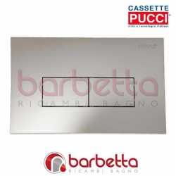 PLACCA PUCCI ECO LINEA PARETE CROMO SATINATO DUE PULSANTI 80130569