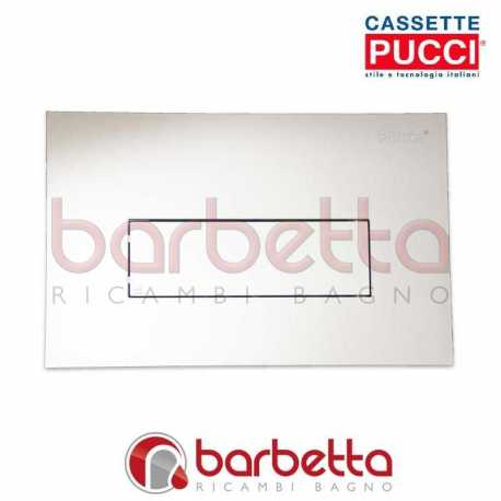 PLACCA PUCCI SARA LINEA PARETE CROMO SATINATO UN PULSANTE 80130669