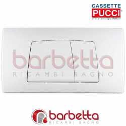PLACCA CASSETTA PUCCI ECO A PARETE BIANCO DUE PULSANTI 80005710