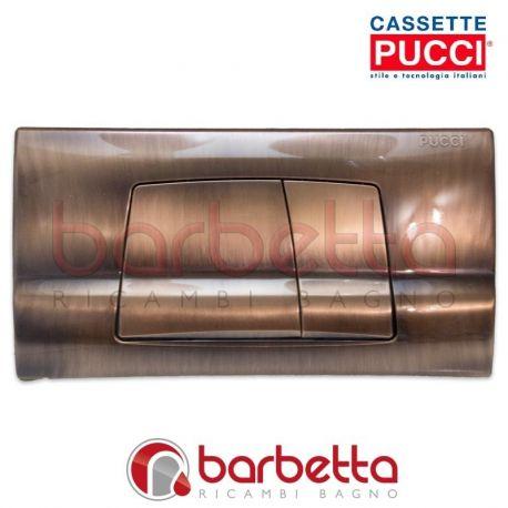 PLACCA PUCCI ECO A PARETE RAMATA DUE PULSANTI 80005713/3