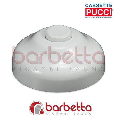 RICAMBIO PUCCI ROSONE FILETTATO E BOTTONE BIANCO 80007530