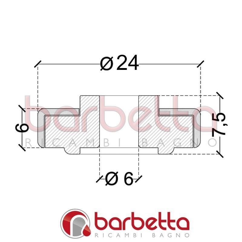 Cuscinetti delrin sfere delrin 24x6x6 9h for Ricambi box doccia cuscinetti