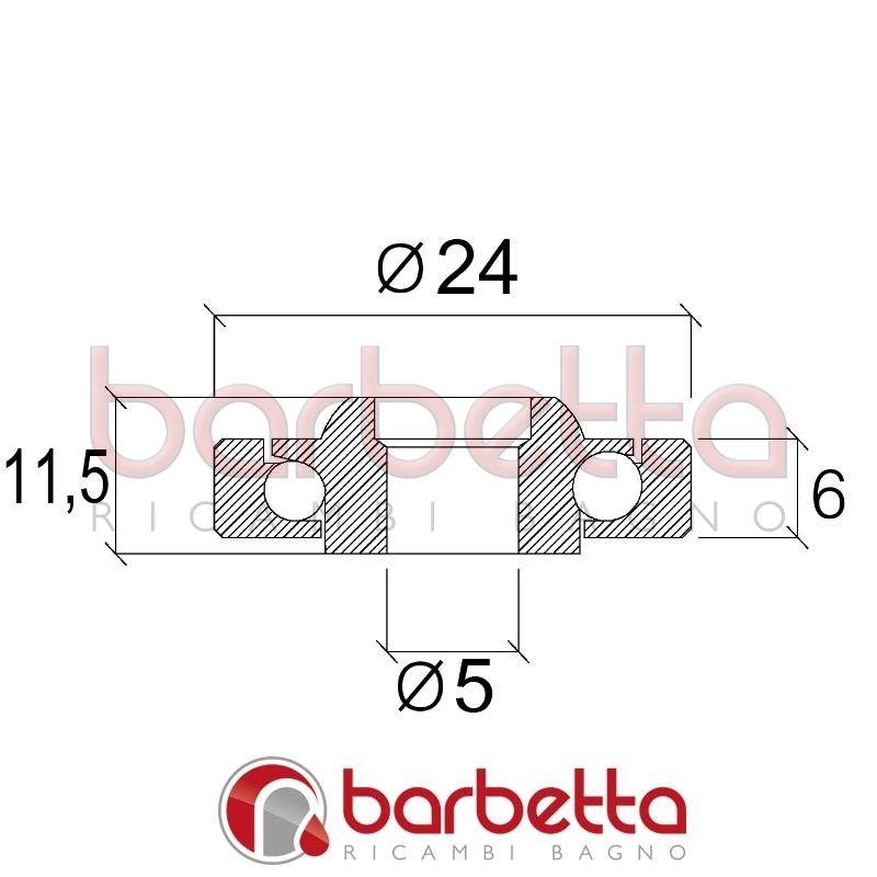 Cuscinetti delrin sfere inox 24x5x6 for Ricambi box doccia cuscinetti