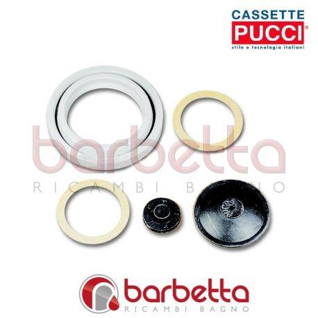 Serie guarnizioni (1 sede sfera, 1 membrana, 2 fibra, 1 scodellino) 80009083
