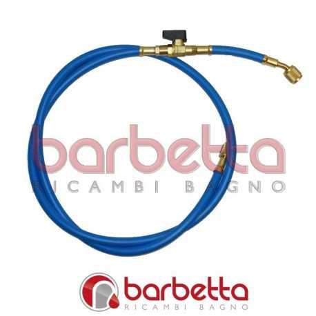 TUBO FLESSIBILE SINGOLO CON RUBINETTO MOD.B 5/6 F - F 1/4 x R410